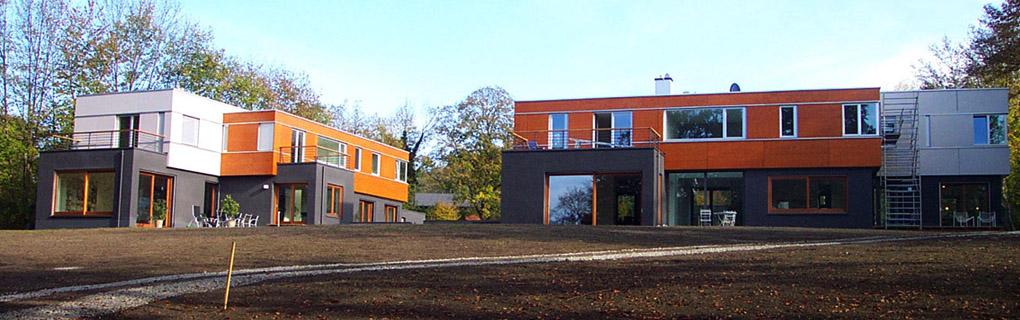 Wohnhauser , Obergeschosse in Brettsperholz
