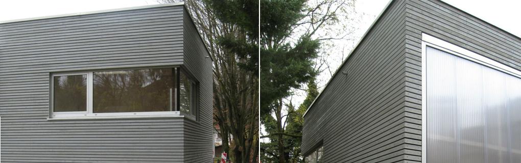 Anbau an Bestand, Tragkonstruktion Brettsperrholz